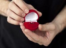 Anello di fidanzamento Fotografia Stock