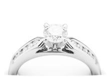 Anello di fidanzamento del diamante Immagini Stock