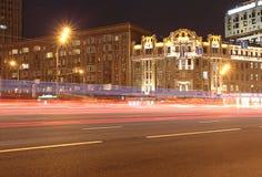 Anello di Gerden, Mosca, di notte Fotografie Stock