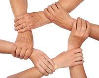 Anello di lavoro di squadra delle mani Immagini Stock