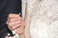 Anello di nozze Immagini Stock