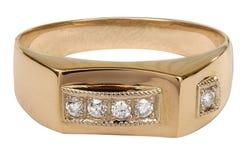Anello di oro Immagine Stock