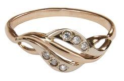 Anello di oro Fotografia Stock