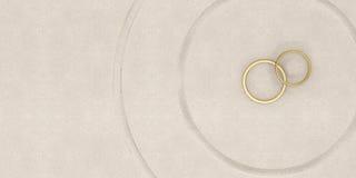 Anello di oro Fotografia Stock Libera da Diritti