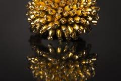 Anello di oro delle perle Fotografie Stock