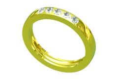 Anello di oro di cerimonia nuziale Immagini Stock