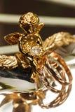 Anello di oro di nozze Fotografia Stock Libera da Diritti