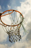 Anello di pallacanestro Fotografia Stock