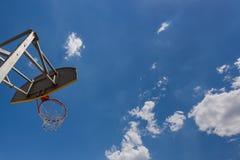 Anello di pallacanestro della via Fotografia Stock