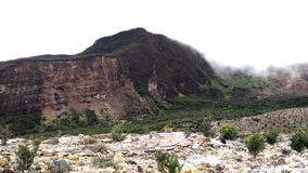 Anello di Papandayan Indonesia della montagna di fuoco vulcanico Immagine Stock