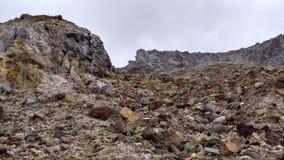 Anello di Papandayan Indonesia della montagna di fuoco vulcanico Fotografia Stock Libera da Diritti