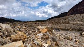 Anello di Papandayan Indonesia della montagna di fuoco vulcanico Fotografie Stock Libere da Diritti