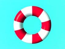 Anello di protezione rosso e bianco di vita Immagine Stock