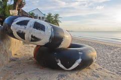 Anello di Safty sulla spiaggia Immagini Stock Libere da Diritti