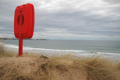 Anello di vita alla spiaggia scozzese Immagine Stock Libera da Diritti