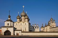 Anello dorato. Città del Kremlin Rostov. Immagini Stock