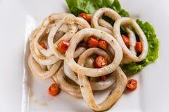 Anello fritto del calamaro Fotografia Stock Libera da Diritti