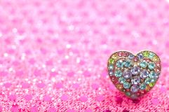 Anello Heart-shaped Immagine Stock
