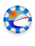 Anello lifebuoy del mare Fotografia Stock