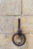 Anello medievale sotto forma di animale sulla parete di una casa dentro Immagine Stock Libera da Diritti