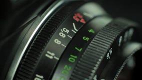 Anello messa a fuoco della lente video d archivio
