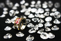 Anello Oxette e cristalli Fotografia Stock Libera da Diritti