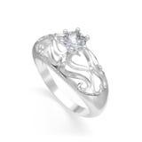 Anello piacevole con il diamante Fotografia Stock Libera da Diritti