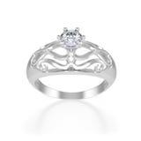 Anello piacevole con il diamante Immagini Stock Libere da Diritti