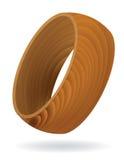 Anello strutturato del granulo di legno Fotografia Stock Libera da Diritti