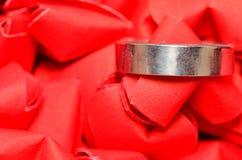 Anello su cuore Fotografia Stock Libera da Diritti