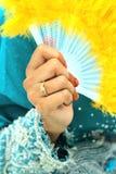 Anello sul dito Immagine Stock
