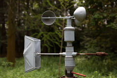 Anemómetro (equipamento da meteorologia) fotografia de stock