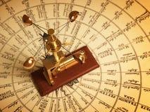 Anemômetro antigo no mapa dos ventos Imagem de Stock