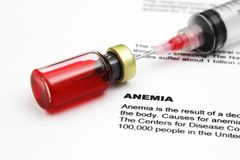 Anemia. Close up of Anemia concept royalty free stock photography