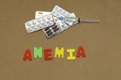 anemia Imagen de archivo libre de regalías