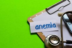 Anemia on Healthcare concept with green background royalty free stock photo