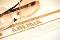 Anemia. Medicine Concept on Red Background. 3D Illustration. Stock Photography