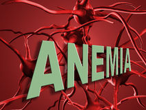 Anemia. Red blood cells. Blood elements close up Royalty Free Stock Photo
