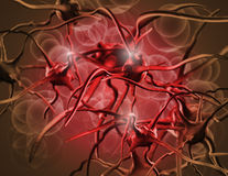 Anemia. Red blood cells. Blood elements close up Stock Photo