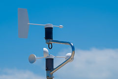 Anemometer, blue sky as background Royalty Free Stock Images