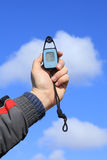 Anemometer in the hand Stock Photos