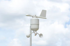 Anemometer Meteorology station. Wind meter with blur background Stock Photos
