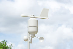Anemometer Meteorology station. Wind meter with blur background Stock Image