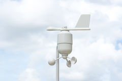 Anemometer Meteorology station. Wind meter with blur background Royalty Free Stock Photography
