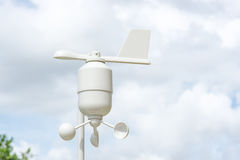 Anemometer Meteorology station. Wind meter with blur background Stock Photography