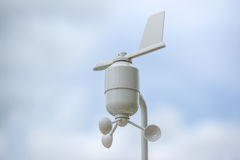 Anemometer Meteorology station. Wind meter with blur background Stock Photo