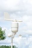 Anemometer Meteorology station. Wind meter with blur background Royalty Free Stock Photo