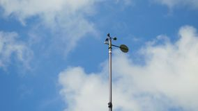 Anemometer rotating sky wind power stock footage