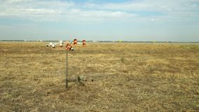 Anemometer and scare off birds near runway