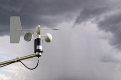 Anemometer on storm Royalty Free Stock Image